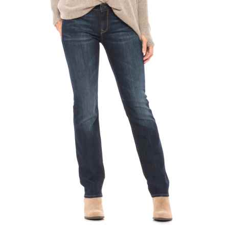 Mavi Kerry Deep Gold Contour Jeans - Mid Rise, Straight Leg (For Women) in Deep Gold Contour - Closeouts