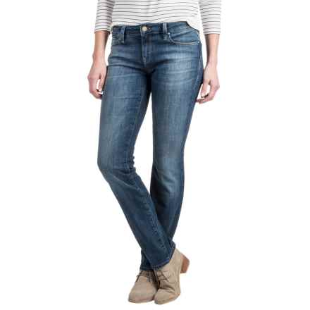 Mavi Kerry Indigo Cigarette Leg Jeans - Stretch Cotton Blend, Mid Rise (For Women) in Indigo Used Portland - Closeouts