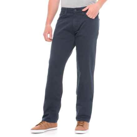 Mavi Myles Dark Navy Twill Pants - Straight Leg (For Men) in Dark Navy Twill - Overstock