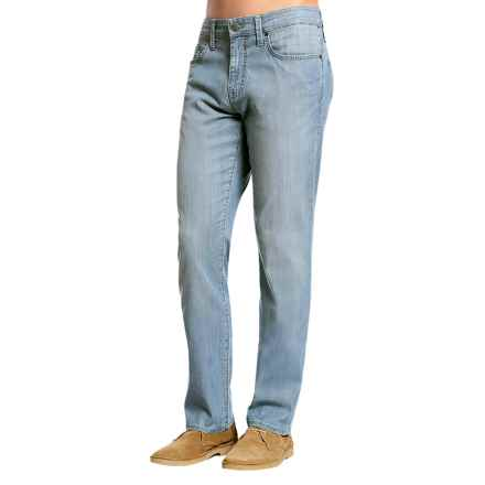 Mavi Myles Mid Rise Denim Jeans - Cotton Blend, Straight Leg (For Men) in Lt Chambray - Closeouts