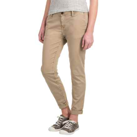 Mavi Selina Chino Pants - Stretch Cotton, Mid Rise (For Women) in Sand Twill - Closeouts