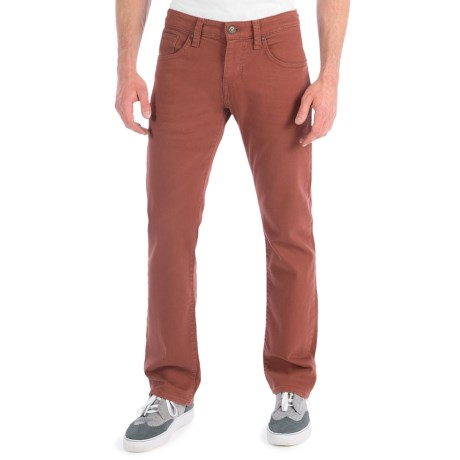 Mavi Zach Colored Jeans - Low Rise, Straight Leg (For Men) in Brick