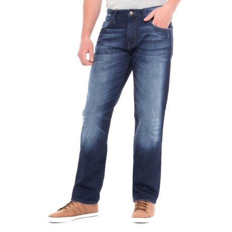 Mavi Zach Dark Brooklyn Jeans - Straight Leg (For Men) in Dark Brooklyn