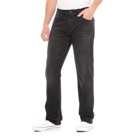 Mavi Zach Jeans - Straight Leg (For Men) in Smoke Chelsea