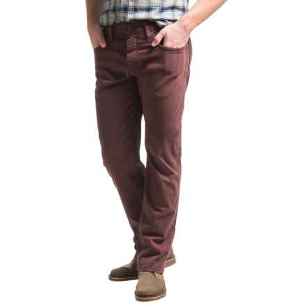 Mavi Zach Twill Pants - Cotton, Straight Leg (For Men) in Burgundy Twill - Closeouts