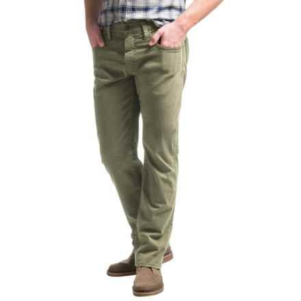 Mavi Zach Twill Pants - Cotton, Straight Leg (For Men) in Olive Twill - Closeouts
