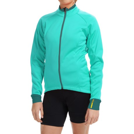 Mavic Aksium Thermo Cycling Jacket (For Women) in Moorea Blue