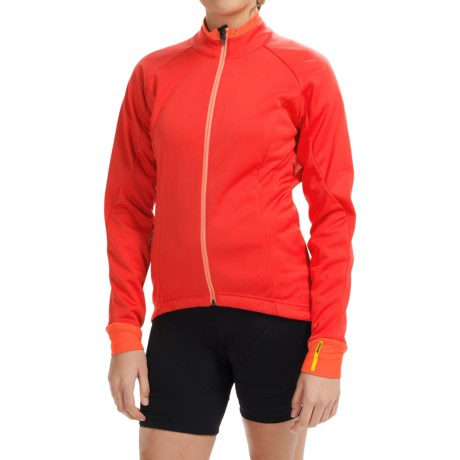 Mavic Aksium Thermo Cycling Jacket (For Women) in Racing Red