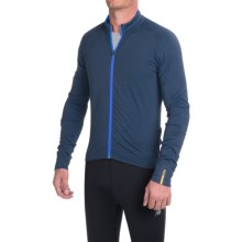Mavic Aksium Thermo Cycling Jersey - Full Zip, Long Sleeve (For Men) in Pond - Closeouts
