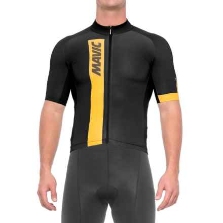 Mavic Cosmic Cycling Jersey - Short Sleeve (For Men) in Black - Closeouts