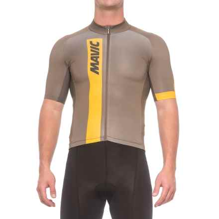 Mavic Cosmic Cycling Jersey - Short Sleeve (For Men) in Canteen - Closeouts