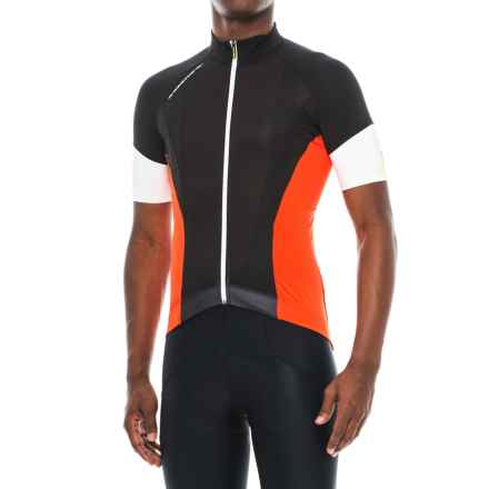 Mavic Cosmic Pro Jersey - Full Zip, Short Sleeve (For Men) in Black/Racing Red - Closeouts