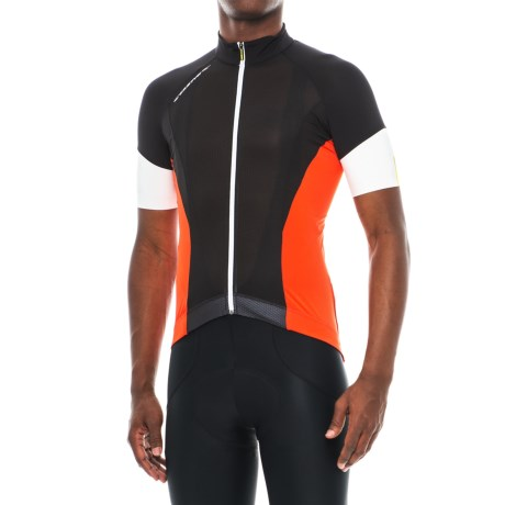 Mavic Cosmic Pro Jersey - Full Zip, Short Sleeve (For Men) in Black/Racing Red