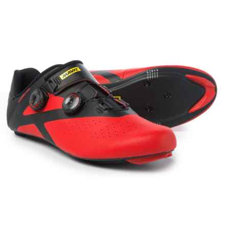 Mavic Cosmic Pro Road Cycling Shoes - 3-Hole (For Men) in Black/Fiery Red/Black - Closeouts