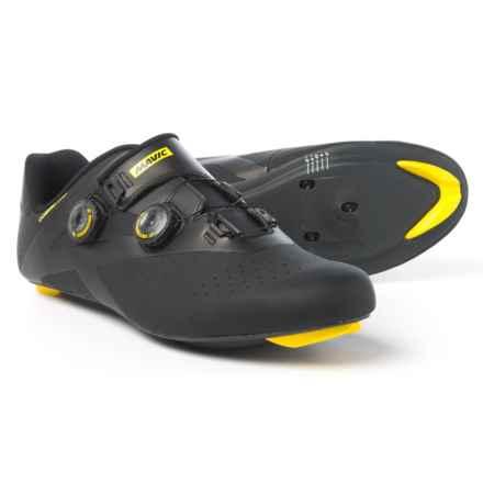 Mavic Cosmic Pro Road Cycling Shoes - 3-Hole (For Men) in Black/Yellow Mavic/Black - Closeouts