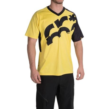 Mavic Crossmax Mountain Bike Jersey - Short Sleeve (For Men) in Yellow Mavic/Black