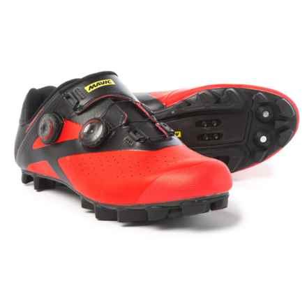 Mavic Crossmax Pro Mountain Bike Shoes - SPD (For Men) in Black/Fiery Red/Black - Closeouts