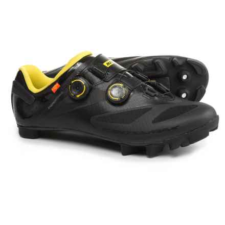 Mavic Crossmax SL Ultimate Mountain Biking Shoes - SPD (For Men) in Black/Black/Yellow Mavic - Closeouts