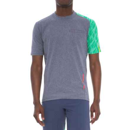 Mavic Crossride Cycling Shirt - Short Sleeve (For Men) in Crown Blue - Closeouts