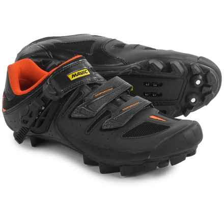 Mavic Crossride SL Elite Mountain Biking Shoes - SPD (For Men) in Black/Grey/Fluorescent Orange - Closeouts