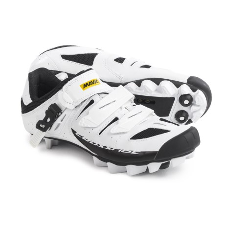 Mavic Crossride SL Elite Mountain Biking Shoes - SPD (For Women) in White/Black/White
