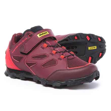 Mavic Echappee Trail Elite Mountain Bike Shoes - SPD (For Women) in Fig/Hibiscus/Black - Closeouts