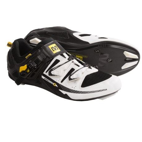 Mavic Galibier Road Cycling Shoes - 3-Hole (For Men and Women) in White/Black/Yemav