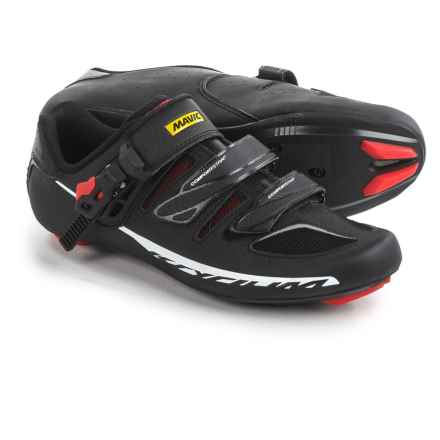 Mavic Ksyrium Elite II Road Cycling Shoes - 3-Hole (For Men) in Black/Red/Black - Closeouts