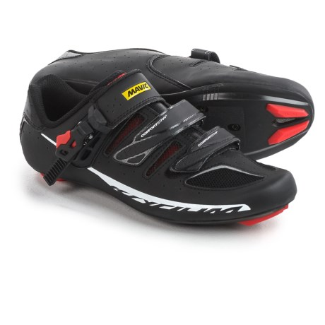 Mavic Ksyrium Elite II Road Cycling Shoes - 3-Hole (For Men) in Black/Red/Black