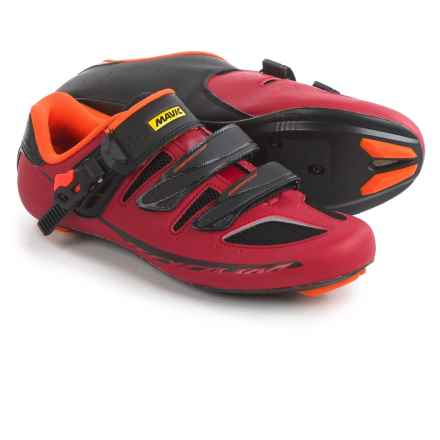 Mavic Ksyrium Elite II Road Cycling Shoes - 3-Hole (For Men) in Red/Black/Orange - Closeouts