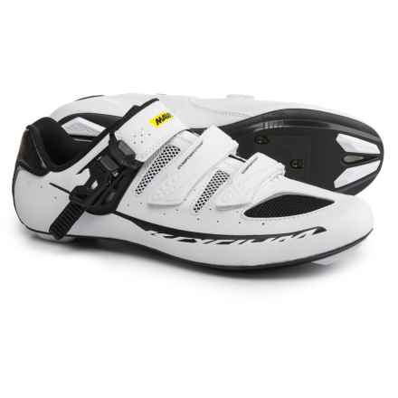 Mavic Ksyrium Elite II Road Cycling Shoes - 3-Hole (For Men) in White/Black/Black - Closeouts