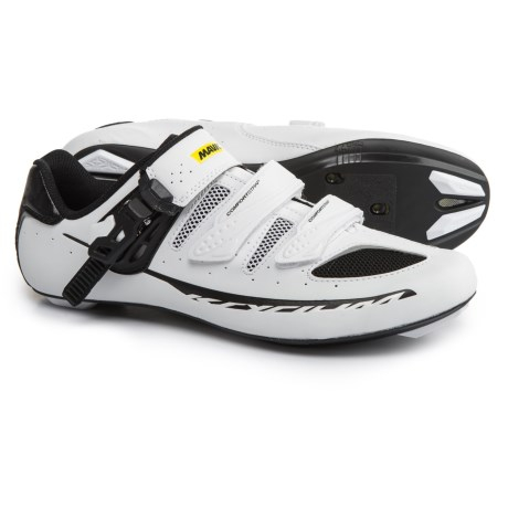 Mavic Ksyrium Elite II Road Cycling Shoes - 3-Hole (For Men) in White/Black/Black