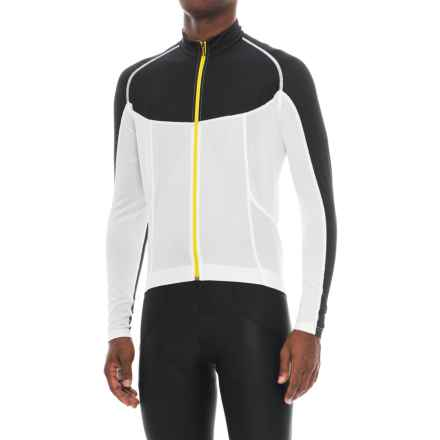 Mavic Ksyrium Pro Cycling Jersey - UPF 30, Full Zip, Long Sleeve (For Men) in Cane/Black - Closeouts