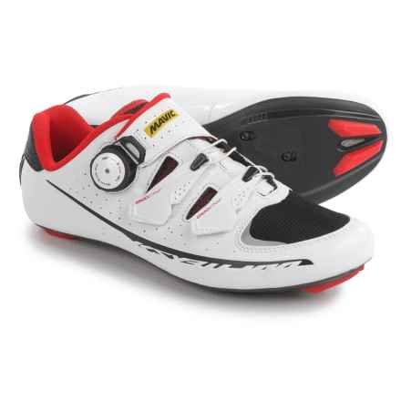 Mavic Ksyrium Pro II Road Cycling Shoes - 3-Hole (For Men) in White/Black/Red - Closeouts