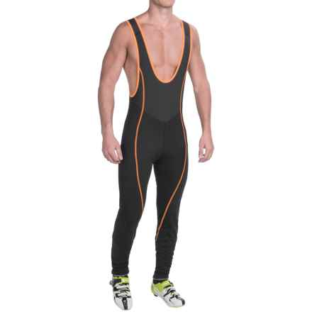 Mavic Ksyrium Pro Thermo Cycling Bib Tights (For Men) in Black/Orange - Closeouts