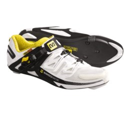 Mavic Zxellium Road Cycling Shoes - 3-Hole (For Men) in White/Black/Yemav