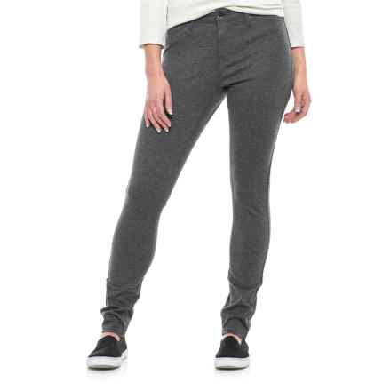 Max Jeans Basic Ponte Jeggings (For Women) in Heather Grey - Closeouts