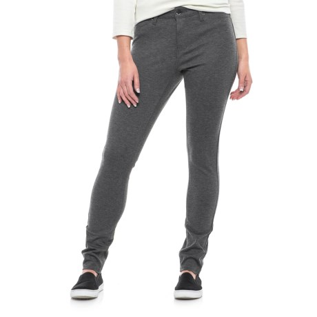 Max Jeans Basic Ponte Jeggings (For Women) in Heather Grey
