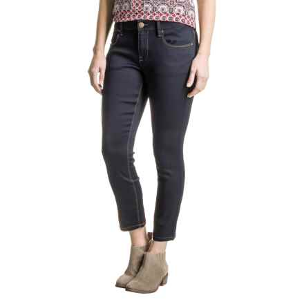 Max Jeans Butter Crop Jeans (For Women) in Blue Black Wash - Closeouts