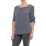 Max Jeans Cinch-Sleeve Swing Shirt - 3/4 Sleeve (For Women)