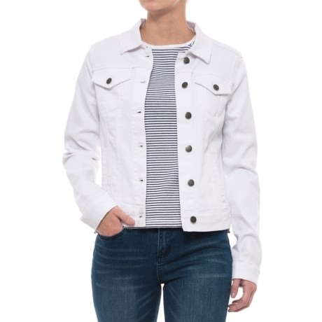 Max Jeans Classic Trucker Jacket (For Women) in White