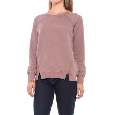 Max Jeans Diamond Quilted Sweatshirt (For Women) in Twilight Mauve - Closeouts