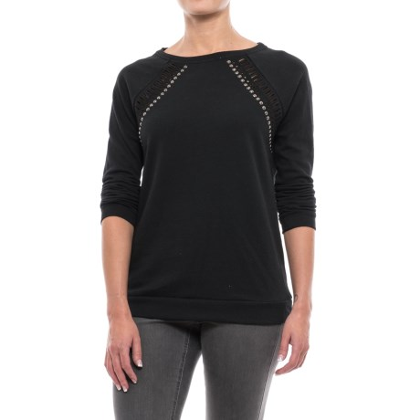 Max Jeans Don Cutout Raglan Sweatshirt (For Women)