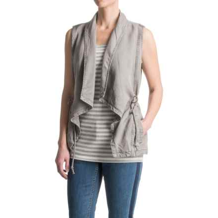 Max Jeans Drape-Front TENCEL® Vest (For Women) in Elephant - Closeouts