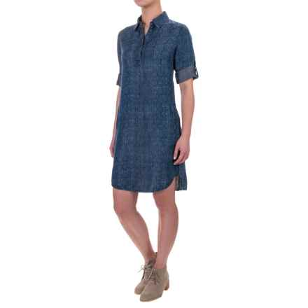 Max Jeans Pop-Over Shirtdress - TENCEL®, Elbow Sleeve (For Women) in Marla Dark - Closeouts