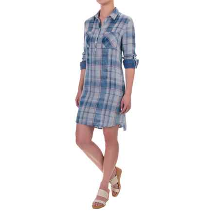 Max Jeans Popover Shirtdress - Long Sleeve (For Women) in Connie - Closeouts