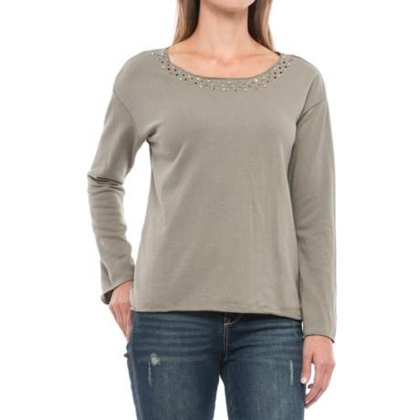 Max Jeans Riri Studded Sweatshirt (For Women) in Vetiver