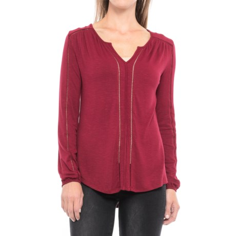 Max Jeans Ritz Shirt - Long Sleeve (For Women) in Tibetan Red