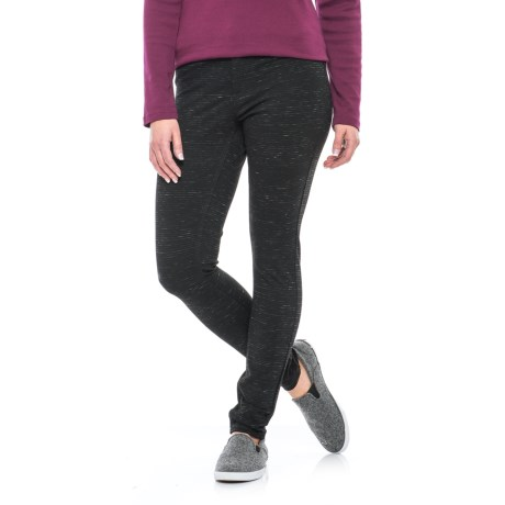 Max Jeans Space-Dye Ponte Jeggings (For Women) in Black Space Dye