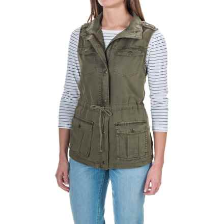 Max Jeans TENCEL® Anorak Vest (For Women) in Light Olive - Closeouts